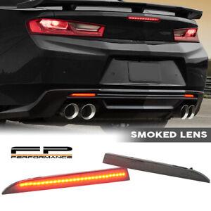 FOR 16-19 Camaro 13-17 Traverse Smoke Lens Rear Bumper Reflector LED Lamp Light