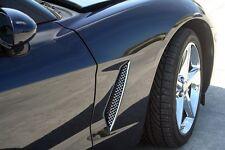 2005-13 C6 Corvette Polished Mesh Front Side Vent Grilles w/ Instructions