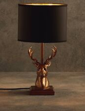 Luxury Black and Gold Stag Table Lamp Art Deco Antler Antique Large Sculpture