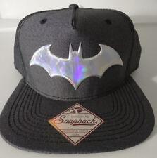 Batman Logo DC Comics Iridescent Weld Woven Fabric Snap Back Hat Nwt