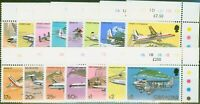 Gibraltar 1982 Aircraft set of 15 SG460-474 SG942 V.F MNH Traffic Light Controls