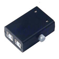 Mini 2 Ports USB Manual Share Sharing Switch Splitter Box Hub for PC Printer DE
