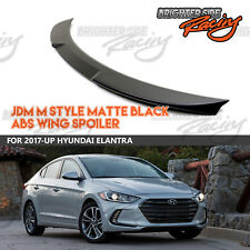 FOR 2017-UP HYUNDAI ELANTRA HIGH QUALITY ABS MATTE BLACK M STYLE TRUNK SPOILER