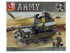 SLUBAN M38-B0282 Panzer Haubitze mit 2 Soldaten ARMY Klemmbausteine Neu+OVP