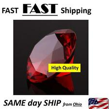Giant Faux RED RUBY