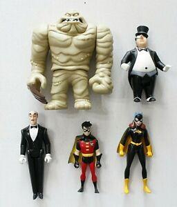 BATMAN ANIMATED SERIES  PENGUIN, CLAYFACE, ROBIN, BATGIRL & ALFRED  1990'S