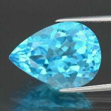 15.07ct 18x13mm Pear Natural Swiss Blue Topaz, Brazil