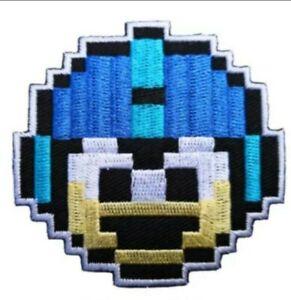 Video Game Mega Man 8 bit Cartoon Vintage Retro Style Iron on Patch Applique NEW