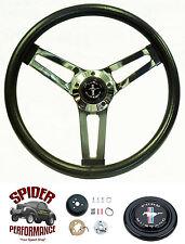 "1965-1969 Mustang steering wheel PONY 14 1/2"" SHALLOW DEPTH steering wheel"