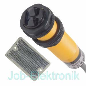 Optischer Sensor / Reflex - Lichtschranke PNP  2Meter NEU inkl. Tripelspiegel