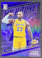 LeBron James 2019-20 Panini Donruss Optic #13 Purple Holo Prizm My House Lakers