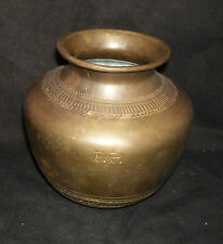 Traditional Indian Brass Bowl Kalasha Collectible.