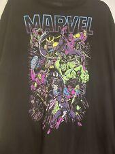 Disney Marvel Themed Tee Men's 3Xl T-shirt Thor Hulk Thanos Iron Man Black Widow