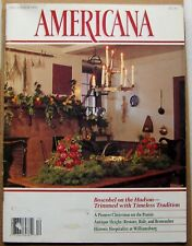 """AMERICANA"" November/December 1991 Christmas Seals Boscobel on Hudson Old Games"