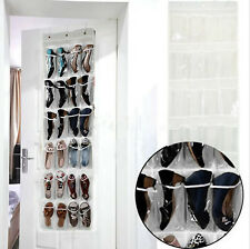 USEFUL 24 POCKET SHOE DOOR HANGING ORGANIZER WALL BAG CLOSET HOLDER SPACE-SAVING