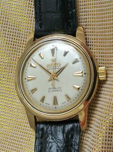Vintage rare Swiss Roamer Rotopower Brevet automatic watch, gold plated, runs