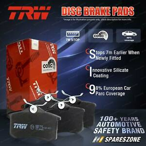 4x Front TRW Disc Brake Pads for Lotus Eclat TH 2.2L 119KW Coupe 1980 - 1986
