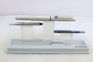 Vintage (1982) Parker 25 Medium Italic Fountain Pen, (Cased, Refill & Convertor)