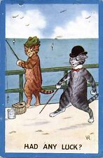 Cats by Violet Roberts. Had Any Luck? by Photochrom. Angling Comic.