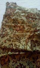 Lot de coupons de tissu ameublement anciens motif floral