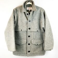 VTG FILSON 80s Double Mackinaw Cape Cruiser Wool Coat Jacket USA Made Gray SZ 40