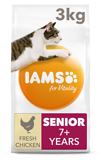 Iams For Vitality With Chicken Senior Dry Cat Food - 3kg