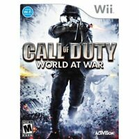 Call of Duty: World at War (Nintendo Wii, 2008) Complete w/Manual CIB