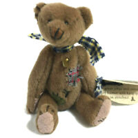 Cottage Collectibles Stitches teddy bear miniature jointed w TAG CC7002 Ganz J