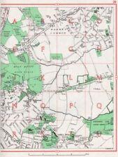 BARNET. Mill Hill Barnet Common Arkley Highwood Hill 1964 old vintage map