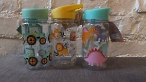 Children's Lunchboxes and Water Bottles Dinosaurs Tractors Safari Animals Space