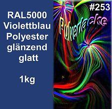 PULVERLACK1kg Poudre De Revêtement En peinture RAL5000 bleu