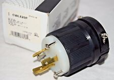 Cooper CWL520P Locking Plug Connector Receptacle 20A 125V 2-Pole, 3-Wire