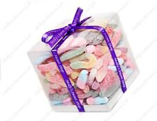 Fizzy & Sour Sweets Mix Gift Cube, Ribbon, Fantastic Birthday or Christmas Gift