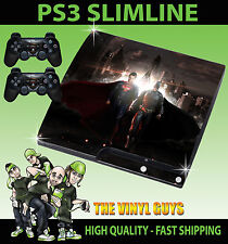 Playstation 3 SLIM PS3 Slim BATMAN VS SUPERMAN HEROES Adesivo sottile & 2
