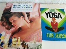"""2 Bücher """" Aromatherapie Massage Yoga und Yoga für Jeden"""