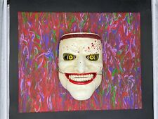 Joker Mask Painting Art By Aaron Goodwin 1/1 Canvas Size 16x20