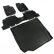 Floor Mat Liner Kit for Jeep Wrangler JKU 4 Door 2007-2010 Black 12988.01