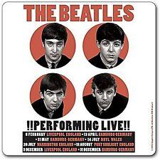 Beatles Performing Live 1962 Dorso de Corcho Bebidas Tapete / Posavasos (Ro)