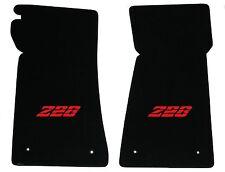 LLOYD Velourtex™ Black FLOOR MATS Red embroidery 1980-1981 Chevrolet Camaro Z28