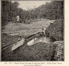 GUYANE GUIANA GOLD PROSPECTOR CLEAN UP NETTOYAGE DALLE OR PROSPECT 1907 PRINT