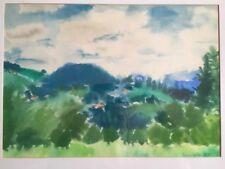 Fodor Levente, Famous Listed Artist,Original Watercolor,Landscape 1969, Signed