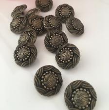 10 x 18 mm ORNATA Bronzo Resina Decorativa Blazer Cappotto Pulsanti, Pulsanti, gambo