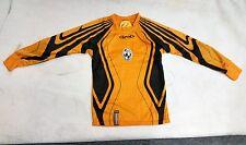 Rinat Official Kids Set Soccer Goalkeeper Uniform Orange Black