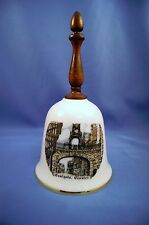 A & J Lockett Stoke-On-Trent Porcelain Collector's Bell With Wooden Handle