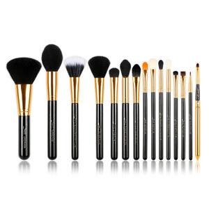 Jessup 15Pcs Professional Make up Brush Set Foundation Blusher Eyeshadow Kabuki