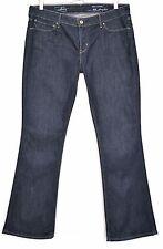 Donna Levis skinny Bootcut Slim Blu Indaco Jeans Taglia 14 W33 L32