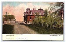 Vintage Postcard High School Summerside Prince Edward Island Canada