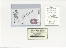 Jim Bartlett Montreal Canadiens AUTOGRAPH AUTO INDEX HOCKEY CARD 100% COA