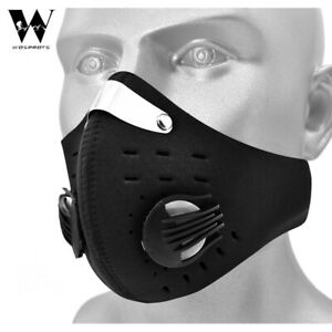 Reusable Carbon Filter Face Cover Mouth-Muffle Activated Anti Pollution Dust