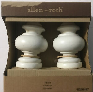 Allen and Roth Wood  Set Of 2 White Finish Wood Drapery Sconces
